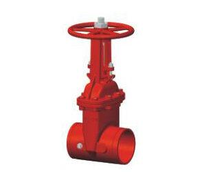 valvula OS&Y ranurada, sistemas contra incendios, red contra incendios, valvulas UL-FM, ul-fm, valvula de compuerta, sistemas contra incendios, valvulas UL-FM