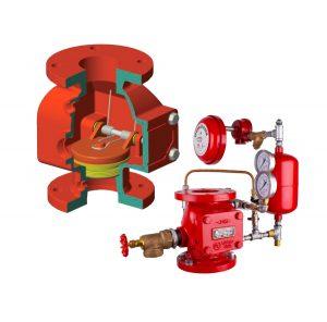 Válvulas de alarma sistemas contra incendios